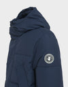 Mens COPY Hooded Parka WINTER Coat in Navy Blue