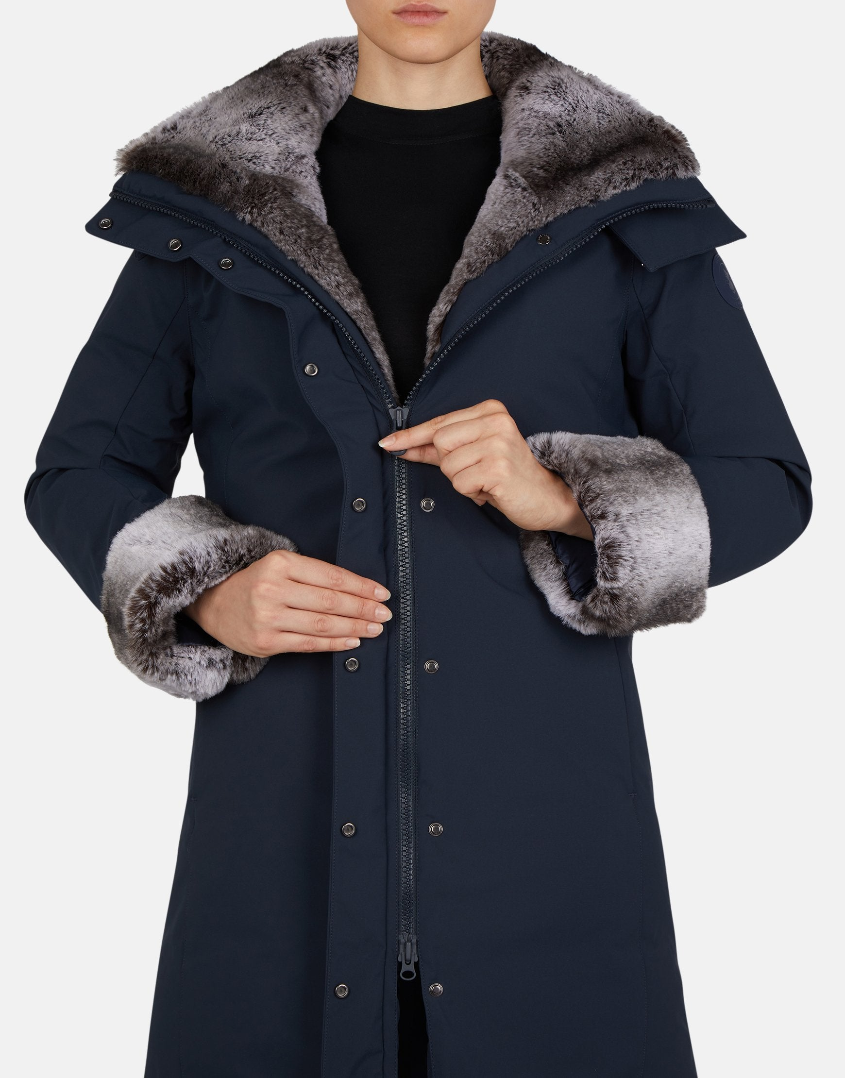 Save The Duck Women's SMEG Winter Hooded Parka with Faux Fur Lining