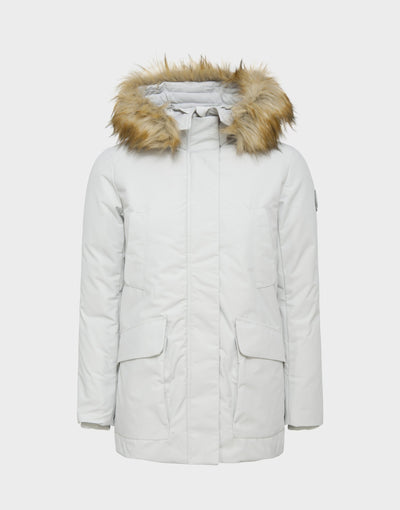 Womens COPY Hooded Parka in Frozen Grey