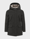 Girls COPY Winter Hooded Parka in Brown Black