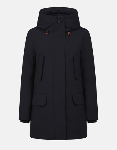 Save The Duck Womens Hooded Coat in SMEG