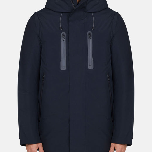 Mens Hooded Coat in EVER