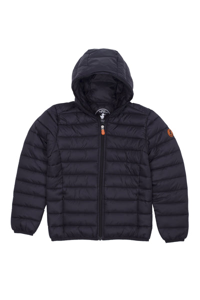 Boy's Puffer Jacket in Black