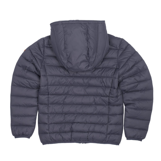 Boy's Puffer Hooded Jacket in Charcoal Grey