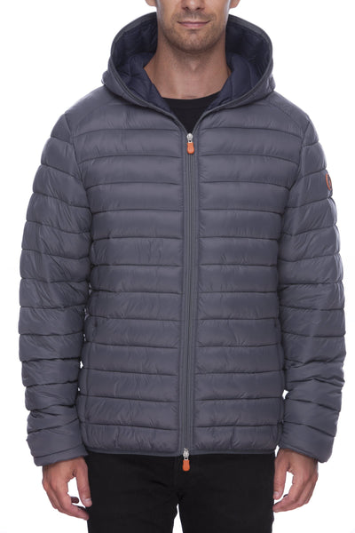 Men's Hooded Jacket in Charcoal Grey