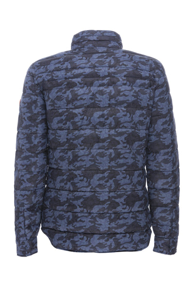 Men's Jacket in Micro Camouflage Blue