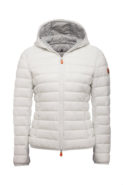 Women's GIGA Hooded Puffer Jacket in White
