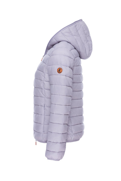 Women's GIGA Hooded Puffer Jacket in Lilac