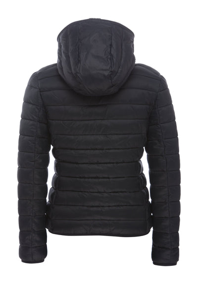Women's GIGA Hooded Puffer Jacket in Blue Black