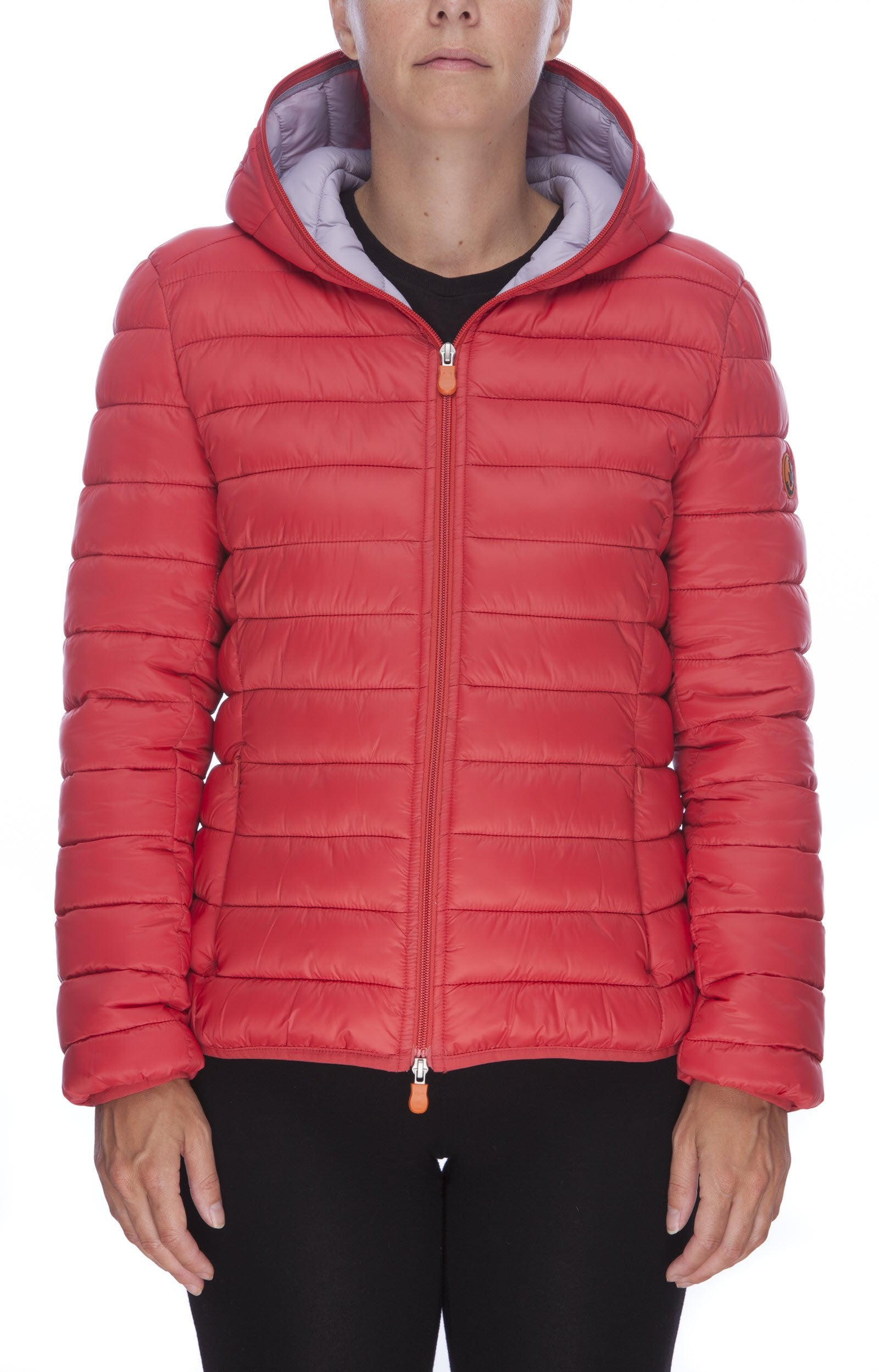 Women's GIGA Hooded Puffer Jacket in Cranberry Red