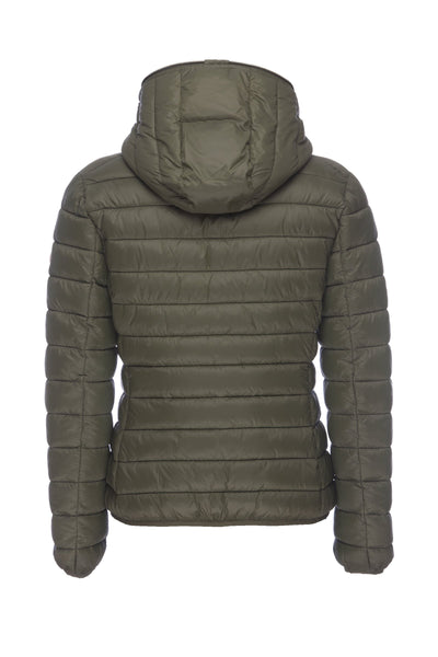 Women's GIGA Hooded Puffer Jacket in Dusty Olive