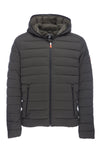 Men's Stretch Puffer Jacket in Military Green Melange