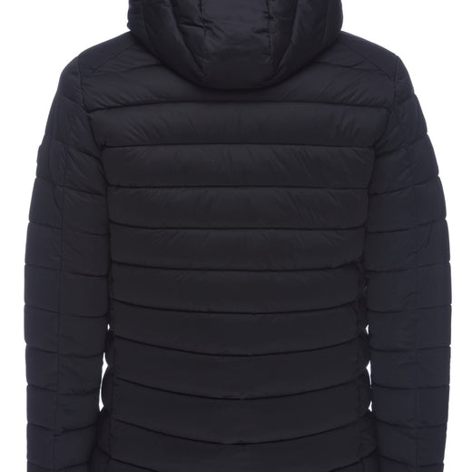 Men's Stretch Hooded Jacket in Black