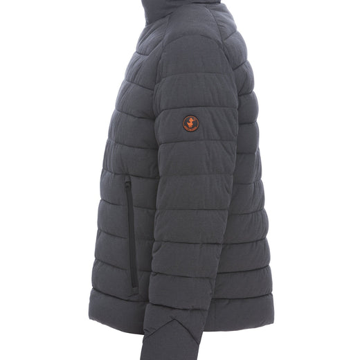 Men's Stretch Puffer Jacket in Grey Melange