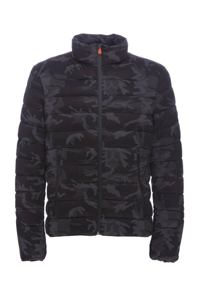 Men's Stretch Jacket in Grey Camouflage
