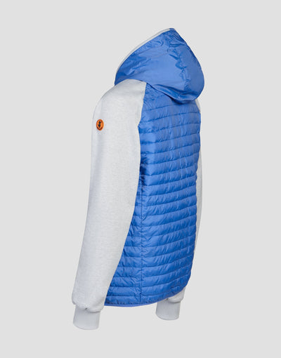 Save The Duck Mens Hooded Jacket-S3716M-MELA6-01060 Star Blue
