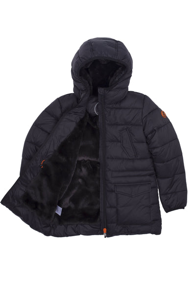 Boy's Puffer Coat in Black