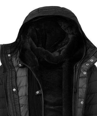 Winter Men's Hoodied Parka in Black