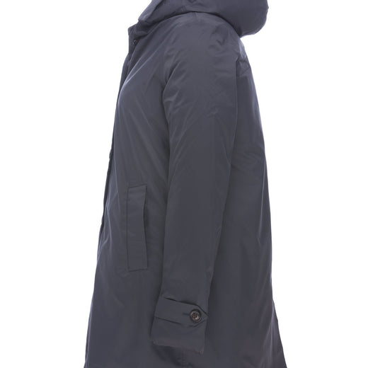 Womens Padded Raincoat in Charcoal Grey