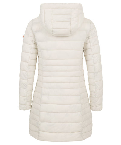 Women's Puffer Long Coat in Snow White