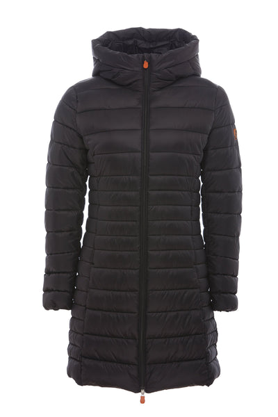Women's Hooded Puffer Coat in Black