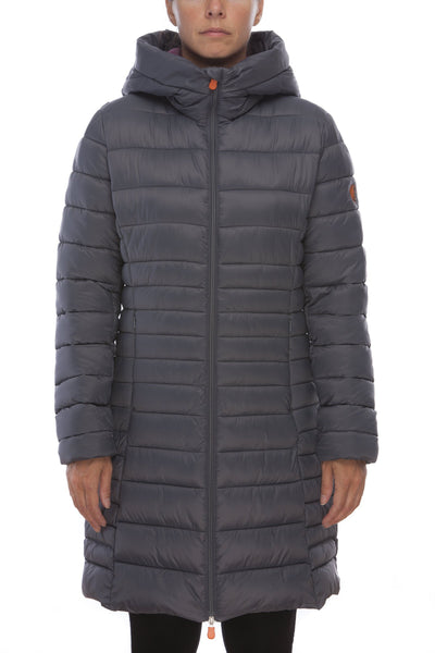Women's Puffer Coat in Charcoal Grey