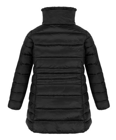 Girl's IRIS Faux fur Collar Coat in Black
