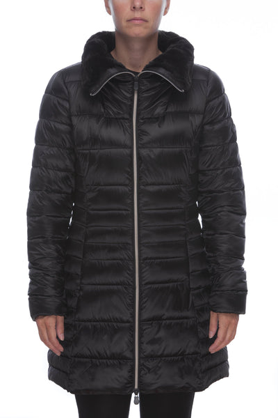 Women's Iridescent Coat in Black