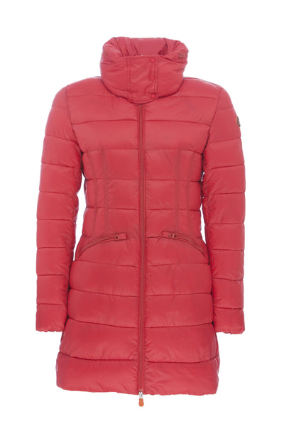 Women's Hooded Coat in Cranberry Red