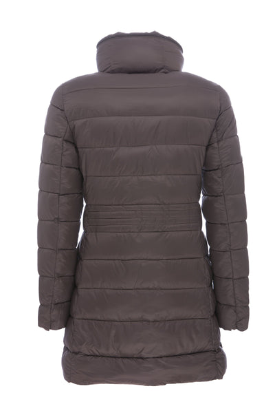 Women's Puffer Coat in Chocolate Brown
