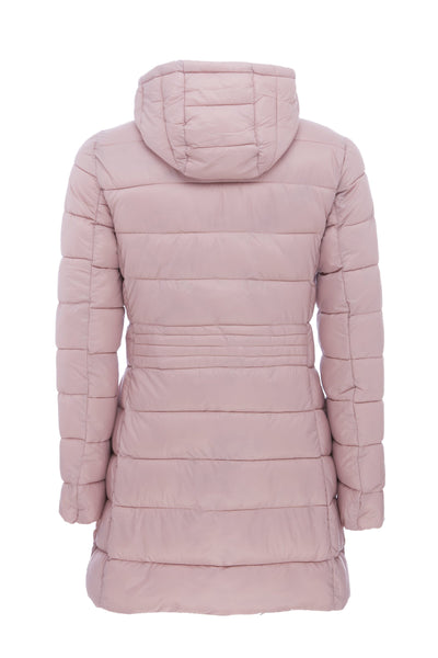 Women's Hooded Coat in Blush Pink