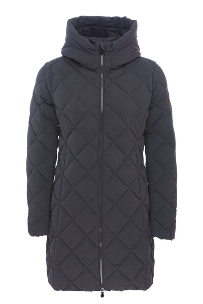 Women's Hooded Coat in Grey Melange