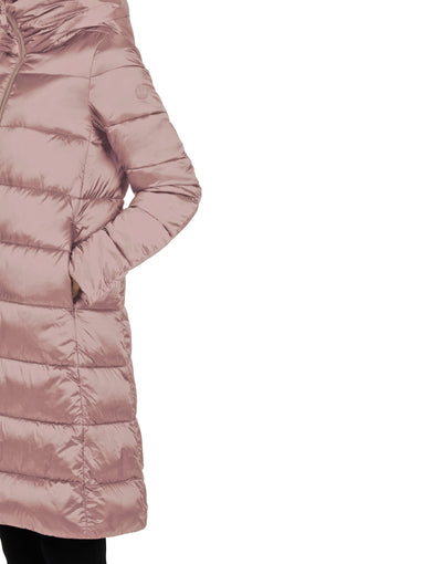 Save The Duck Women's IRIS Extra-Long Quilted Hooded Coat