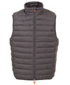 Mens Lightweight Puffer Vest in Charcoal Grey