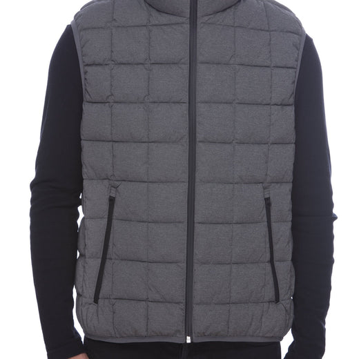 Men's Vest in Opal Grey Melange