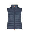 Save The Duck Women's GIGA Stand Collar Vest with Faux Lambskin Lining