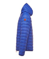 Men's Lightweight Puffer Hooded Jacket in Sapphyre Blue