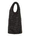 Womens FURY Reversible Faux Fur Sleeveless Jacket in Black