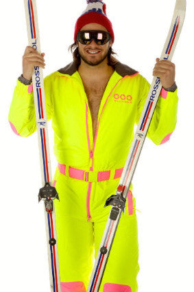 Neon Ski Onezie  - make a splash in Deer Valley -buy for the whole crew