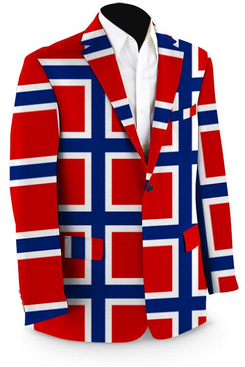Norwegian Flag Men's Sport Coat to stand out in the crowd from Loud Mouth