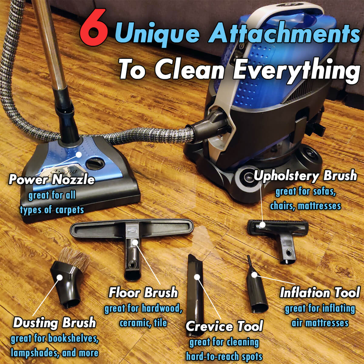 Sirena Vacuum Cleaner Attachments