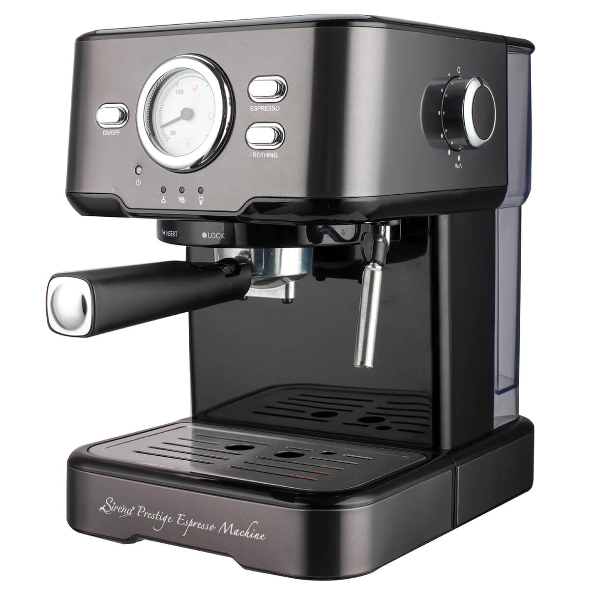 Sirena Prestige Espresso Machine, 15 Bar Espresso and Cappuccino Maker