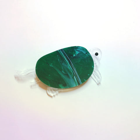 Crystal Turtle brooch