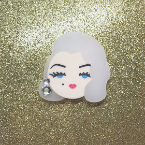 Old Hollywood Glamour (Blonde) mini brooch