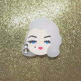 PRE-ORDER Old Hollywood Glamour (Blonde) mini brooch