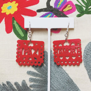 Mexican Perforated Banners earrings