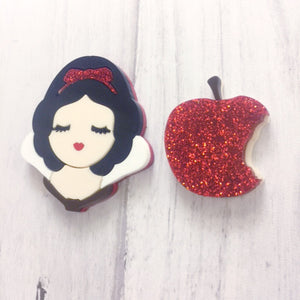 Bitten Apple brooch set
