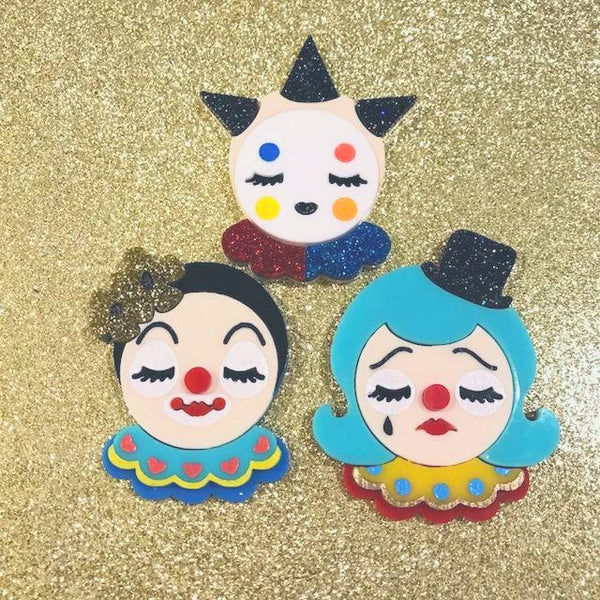 Circus Clown brooch