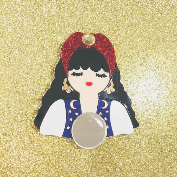 Circus Fortune Teller brooch