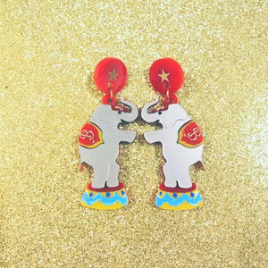 Circus elephants earrings